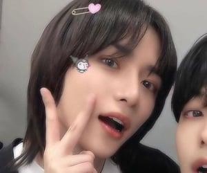 black hair, icon, and long hair image