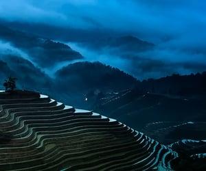 blue, fog, and mist image