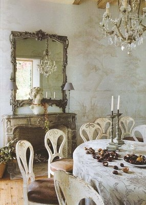dining, interiors, and mirror image