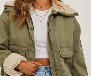 fashion, fleece, and jacket image