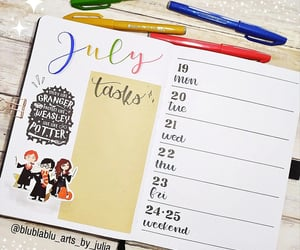 agenda, harry potter, and planner image