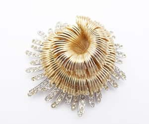 etsy, sea anemone, and gold tone image