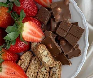 strawberry, chocolate, and dessert image