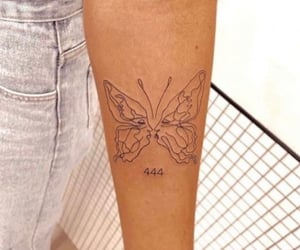 art, butterfly, and tats image