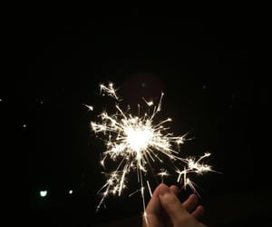 aesthetic, dark, and fireworks image
