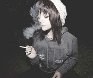 girl and cigarette image