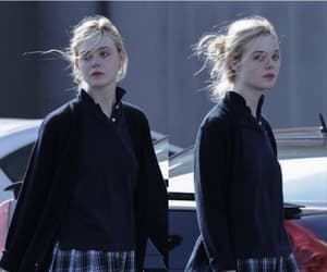 aesthetic, Elle Fanning, and school girl image