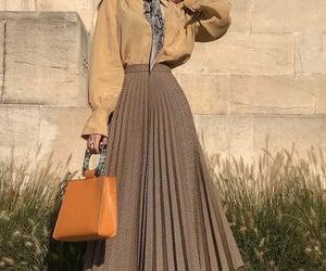 bag, scarf, and skirt image