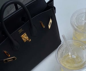 bag, drink, and fashion image