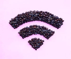 brown, pink, and coffee image