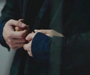 couple, hands, and hug image