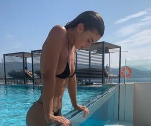bikini, girl, and hairstyle image