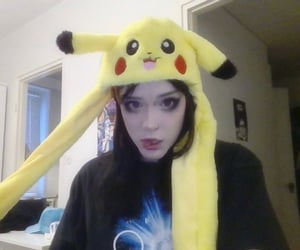 alt girl, pikachu, and drainer image