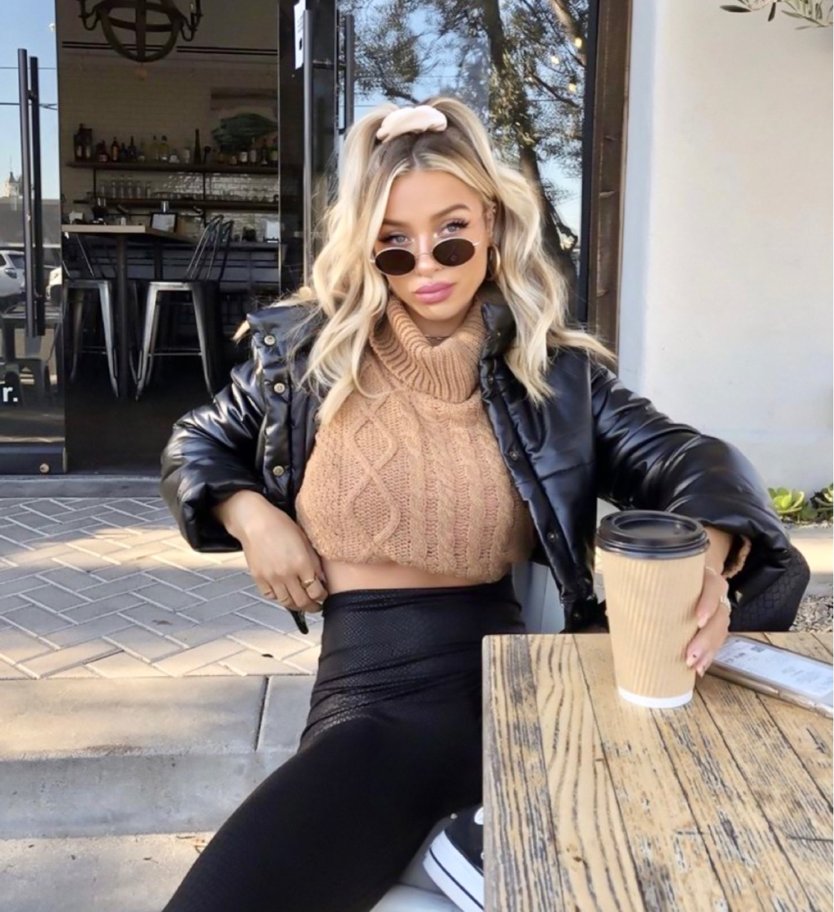 coffee and outfit image