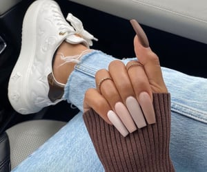 nails, Louis Vuitton, and Nude image