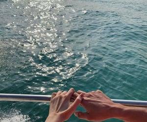 accessory, girl, and sea image