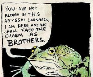 ominous reassurances frog image