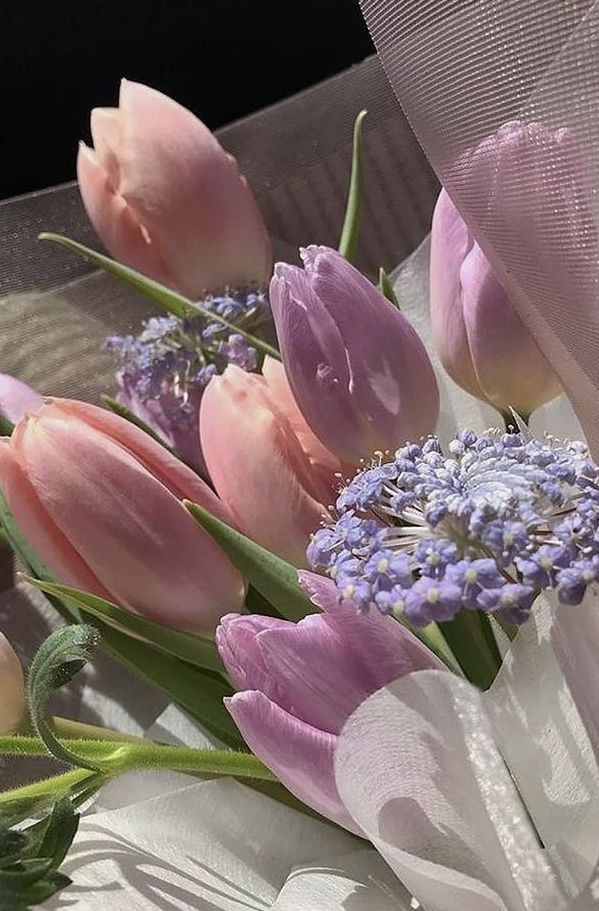bouquet, flowers, and tulip image