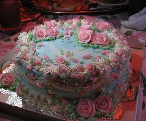 cake, pink aesthetic, and royal aesthetic image