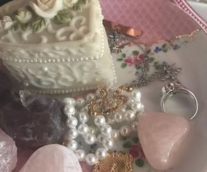 jewelry, pink aesthetic, and royal aesthetic image