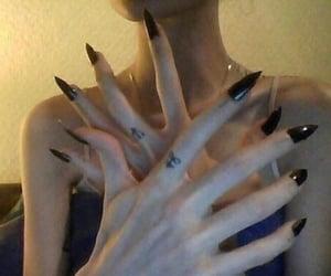 black, nails, and grunge image