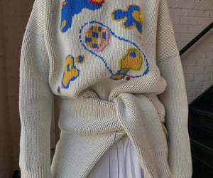 white sweater, everyday look, and winter wear image