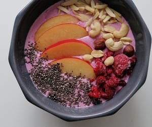breakfast, happy, and smoothie bowl image
