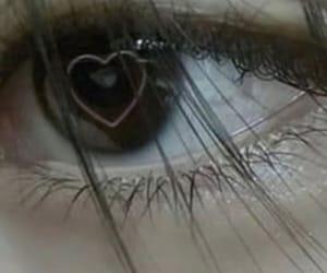 aesthetic, heart, and eye image