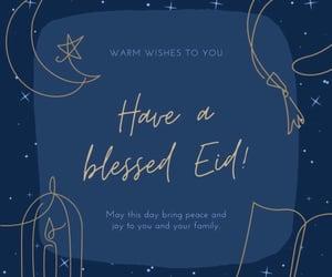 eid, eid mubarak, and eid al adha image