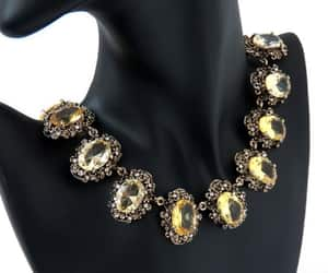 bridal necklace, statement jewelry, and collar choker image