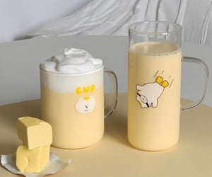 yellow, drink, and cute image