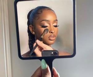 beautiful, makeup, and mirror image