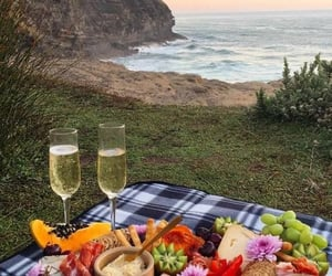 beach, date, and delicious image