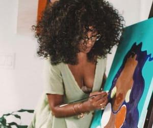 art, woman, and black artist image