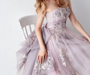 blonde, Full Skirt, and pink image
