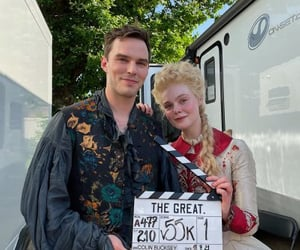 nicholas hoult, Elle Fanning, and maleficent image