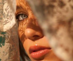 lips, beauty, and eyes image