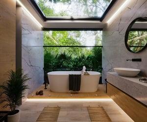 architecture, bath tub, and home image