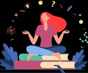 article, meditation, and story image