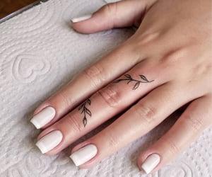 manicure, nail polish, and Tattoos image