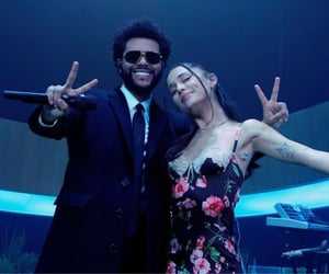 ariana grande, the weeknd, and off the table image