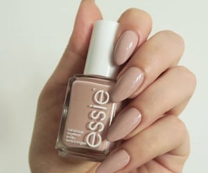 nails, essie, and Nude image