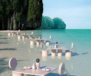beach, travel, and sea image