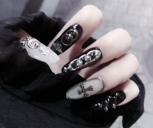 aesthetic, nail, and white image