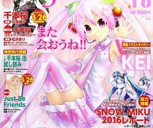 anime, magazine, and miku image
