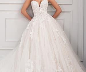 beautiful, wedding dresses, and sweet heart neckline image