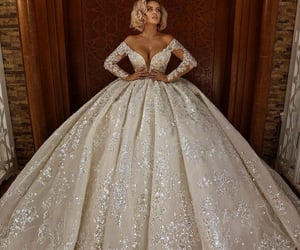 poofy, cute!, and wedding dresses image