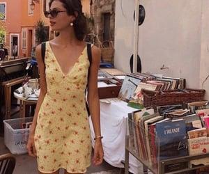 books, dress, and fashion image