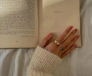 book, nails, and aesthetic image