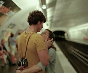 couple, photography, and train image